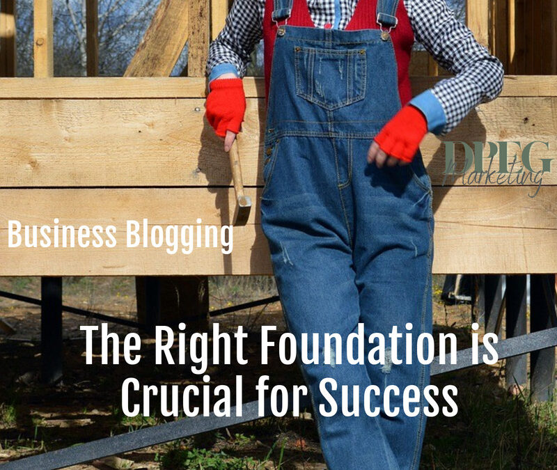 Business Blogging: The Right Foundation is Crucial